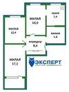 3 комнатная квартира с хорошим ремонтом и мебелью возле метро и центра, Купить квартиру в Минске по недорогой цене, ID объекта - 319698570 - Фото 14