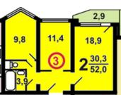 2-ком квартира в новом доме Варшавское шоссе-194 - Фото 5
