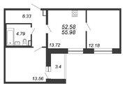 Продажа 2-комнатной квартиры, 55.98 м2 - Фото 1