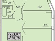 2 468 760 Руб., Продажа трехкомнатной квартиры в новостройке на улице Хользунова, 99 в ., Купить квартиру в Воронеже по недорогой цене, ID объекта - 320573399 - Фото 1