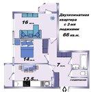 Двухкомнатная квартира, стяжка-штукатурка, Перспективный