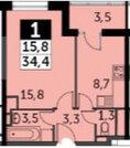 Продаю 1 комнатную квартиру, 34.4 кв.м, 5 572т.р, Сигнальный проезд., Купить квартиру в новостройке от застройщика в Москве, ID объекта - 329882534 - Фото 5