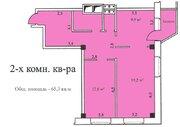 2-х комнатная квартира 65,3 кв.м, 2 эт, г. Озеры Микрорайон 1а д. 5 . - Фото 3