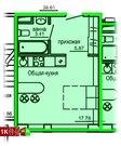 Продажа однокомнатные апартаменты 26.73м2 в Апарт-отель Юмашева 6