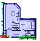Продажа двухкомнатные апартаменты 36.21м2 в Апарт-отель Юмашева 6