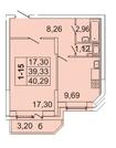 3 716 870 Руб., Продам 1к. квартиру. Кондратьевский пр-кт, д.58 к.1-1, Купить квартиру в Санкт-Петербурге по недорогой цене, ID объекта - 317898213 - Фото 1
