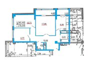 Трёхкомнатная квартира 78 кв.м. в новом ЖК на ул.Есенина, 9 - Фото 2