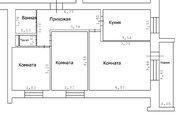 Продаю 3-х к. кв-ру, 59 кв.м в Одинцовском р-не, Бол.Вяземы, Городок-17 - Фото 4