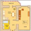 Продажа квартиры, Тюмень, Ул. Мельникайте, Купить квартиру в Тюмени по недорогой цене, ID объекта - 316911506 - Фото 3