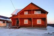 Новый дом 190 кв.м из оц. бревна в жилой деревне в 82 км от МКАД