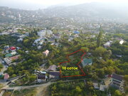 Продается видовой земельный участок 10 соток в Ялте, Васильевка - Фото 1