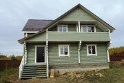 Новый дом из бревна 210 кв.м в жилой деревне в 89 км от МКАД