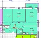 4 710 000 Руб., 3-х на Мельникова, Купить квартиру в Нижнем Новгороде по недорогой цене, ID объекта - 319521424 - Фото 2