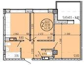 2- комнатная в сданном доме!, Купить квартиру в Краснодаре по недорогой цене, ID объекта - 317157933 - Фото 2