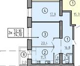 Продается 2 комнатная квартира от застройщика в строящемся доме - Фото 2