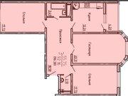 Продажа трехкомнатной квартиры в новостройке на улице Антонова, Купить квартиру в Воронеже по недорогой цене, ID объекта - 320575136 - Фото 2