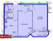3 259 850 Руб., Продажа двухкомнатная квартира 59.27м2 в ЖК Кольцовский дворик дом 4. ., Купить квартиру в Екатеринбурге по недорогой цене, ID объекта - 315127597 - Фото 1