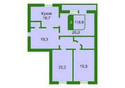 3 комнатная квартира в кирпичном доме, ул. Водопроводная, 6, Продажа квартир в Тюмени, ID объекта - 325337558 - Фото 11