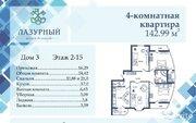 4-к квартира, 146.4 м, 9/16 эт., Купить квартиру от застройщика в Астрахани, ID объекта - 334248701 - Фото 1