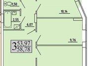 2 468 760 Руб., Продажа трехкомнатной квартиры в новостройке на улице Хользунова, 99 в ., Купить квартиру в Воронеже по недорогой цене, ID объекта - 320571916 - Фото 1