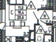 Продажа однокомнатной квартиры в новостройке на улице Кривошеина, ., Купить квартиру в Воронеже по недорогой цене, ID объекта - 320573426 - Фото 1