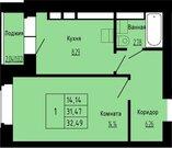 909 720 Руб., Продается 1-комнатная квартира в новом доме, мкр.Юрьевец, Купить квартиру в новостройке от застройщика в Владимире, ID объекта - 313590144 - Фото 2