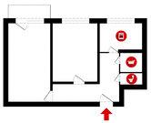 Владимир, Строителей пр-т, д.2, 2-комнатная квартира на продажу