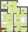 Продажа однокомнатная квартира 45.71м2 в ЖК Суходольский квартал гп-1, . - Фото 1