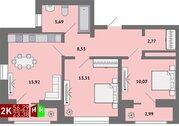 Продажа двухкомнатная квартира 56.29м2 в ЖК Солнечный гп-1, секция з