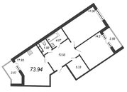 Продажа 2-комнатной квартиры, 73.94 м2 - Фото 1
