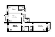 6 120 000 Руб., Военная 16 Новосибирск купить 3 комнатную квартиру, Купить квартиру в Новосибирске по недорогой цене, ID объекта - 327341993 - Фото 8