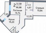 2- комнатная квартира, по ул. Молодёжная 6 А. - Фото 2