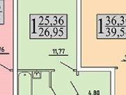 1 131 900 Руб., Продажа однокомнатной квартиры в новостройке на улице Хользунова, 99 в ., Купить квартиру в Воронеже по недорогой цене, ID объекта - 320573596 - Фото 2
