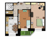 2 комнатная квартира в Дмитрове, улица 2-я Комсомольская дом 16 - Фото 3