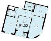 Продам 3к. квартиру. Жукова ул. к.2.3, Купить квартиру в Санкт-Петербурге по недорогой цене, ID объекта - 318417045 - Фото 1