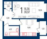 1-к комнатная квартира комфорт-класса в ЖК маяк - Фото 1