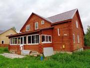 Новый дом из бревна с коммуникациями в деревне, в 87 км от МКАД.