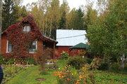 Дом с баней, выход в лес. 70 км от МКАД д.Дубки - Фото 1