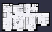 """ЖК """"Only""""-апартамент 75,83кв.м. с отделкой, 3 спальни и кухня-гостиная, Купить квартиру в новостройке от застройщика в Москве, ID объекта - 327690439 - Фото 26"""