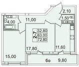 Продам 2к. квартиру. Пионерская ул, д.50 к.4-3, Купить квартиру в Санкт-Петербурге по недорогой цене, ID объекта - 317901706 - Фото 1
