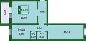 2 комнатная квартира в новом доме, ул. Маршака, д. 5, Продажа квартир в Тюмени, ID объекта - 322787397 - Фото 2
