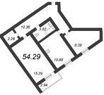 Продажа 2-комнатной квартиры, 54.29 м2 - Фото 2