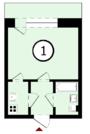 1-комнатная в кирпичном доме