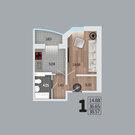 1-к квартира, 38,61 кв.м, 3/17 эт. - Фото 2