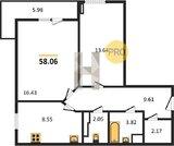 Продается 2 ком кв ул Санаторная 3, Купить квартиру в новостройке от застройщика в Волгограде, ID объекта - 321170844 - Фото 15