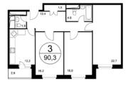 Трехкомнатная квартира в ЖК Березовая роща. г. Видное, Купить квартиру в Видном, ID объекта - 317800384 - Фото 24