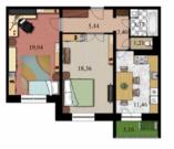 2 комнатная квартира в Дмитрове, ул. 2-я Комсомольская дом 16 корп.1