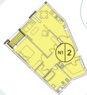 ЖК Clover house продажа однакомнатная квартира Щербаковский переулок 7 - Фото 4