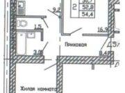 Продажа двухкомнатной квартиры в новостройке на улице Кривошеина, ., Купить квартиру в Воронеже по недорогой цене, ID объекта - 320573792 - Фото 2