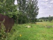 Участок с газом, 20 соток, с ландшафтом, д. Змеевка, Чеховский район - Фото 1